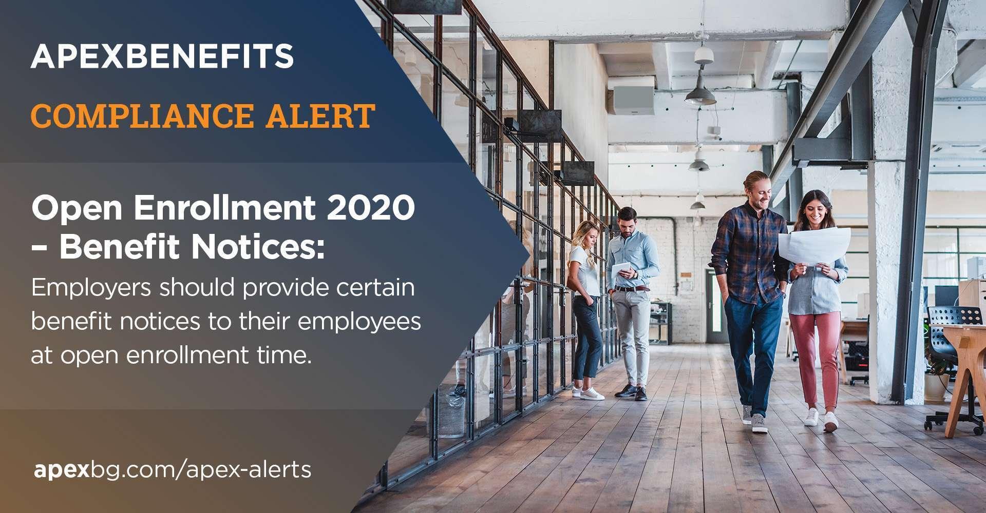 Compliance Alert: Open Enrollment 2020 – Benefits Notices