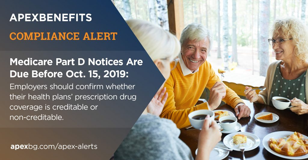 Compliance Alert: Medicare Part D Notices Are Due Before Oct. 15, 2019