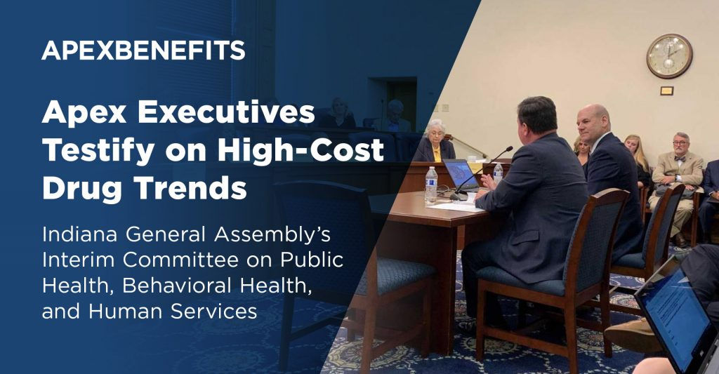 Apex Executives Testify on High-Cost Drug Trends