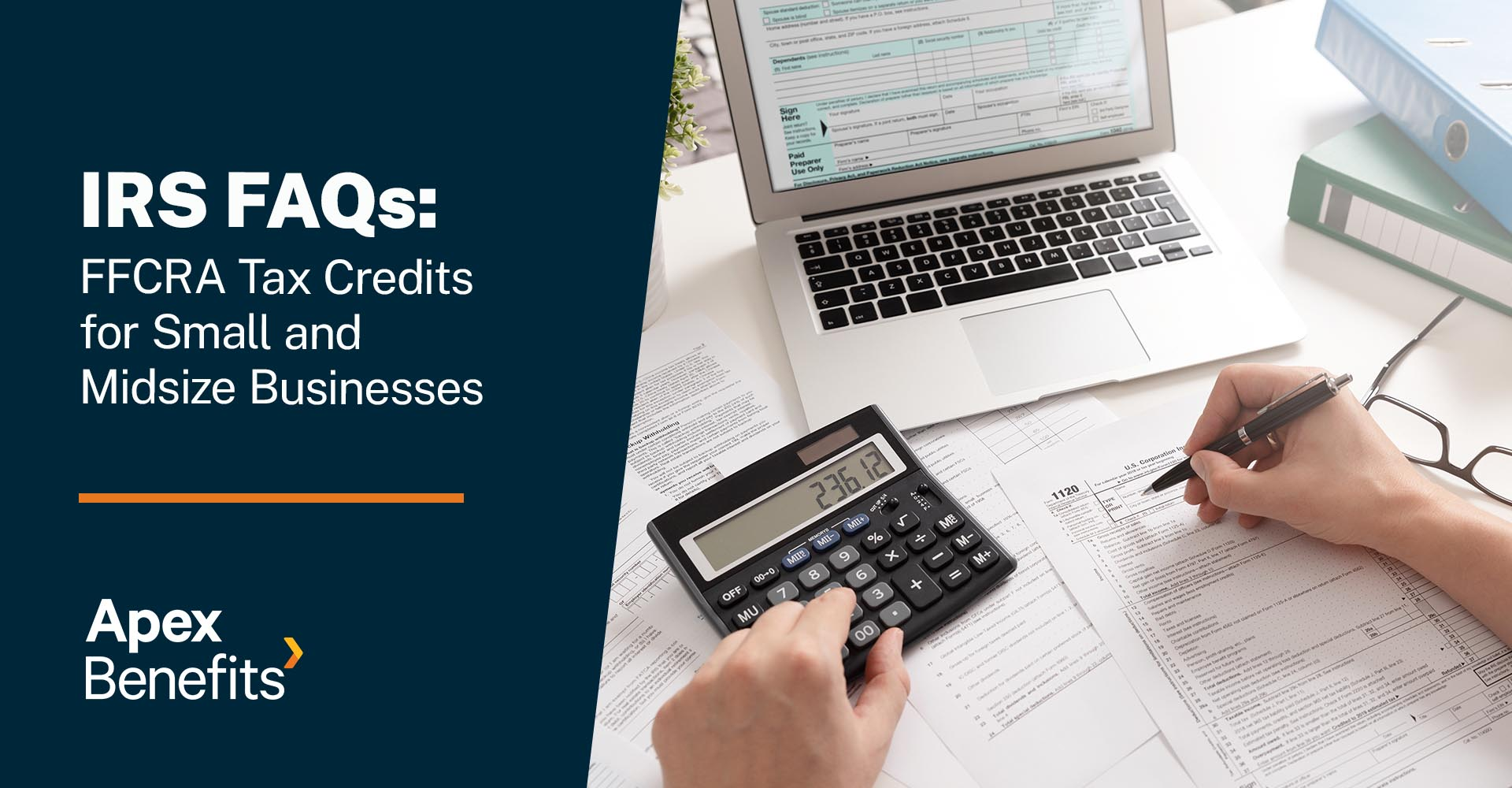 IRS FAQs: FFCRA Tax Credits for Small and Midsize Businesses
