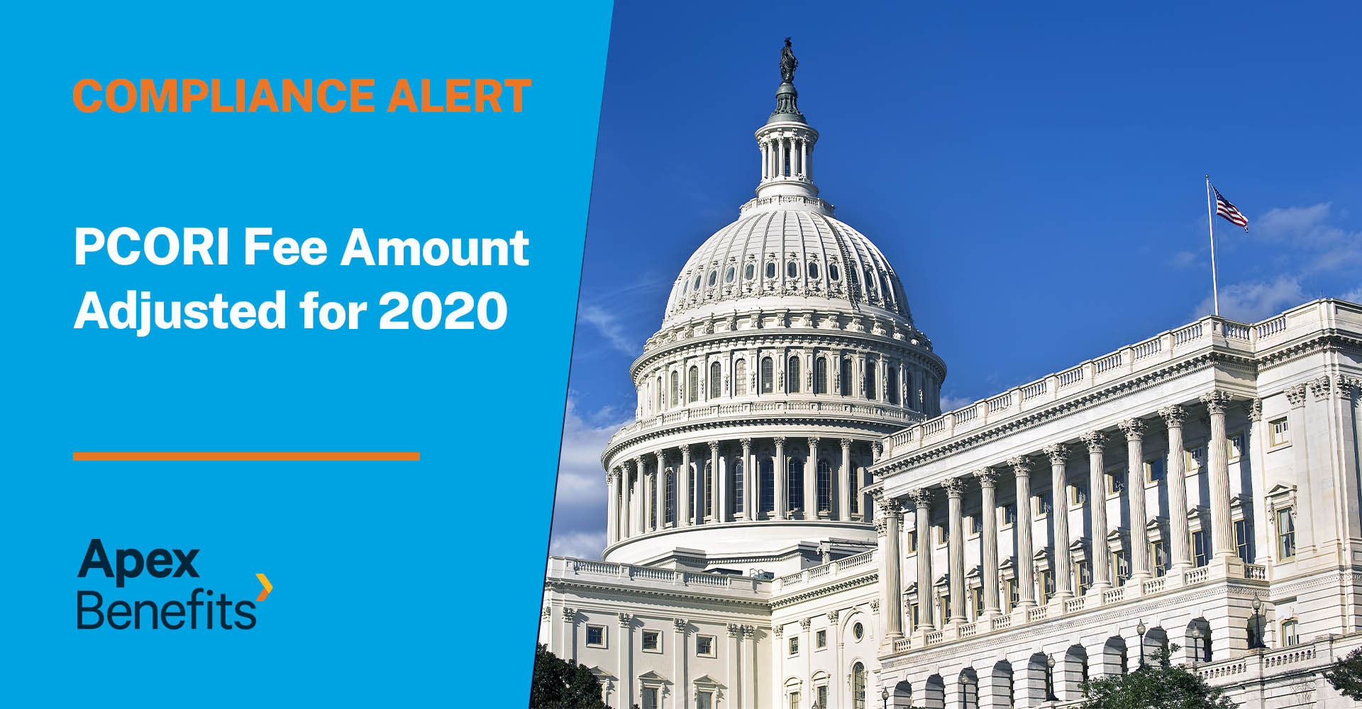 Compliance Alert: PCORI Fee Amount Adjusted for 2020