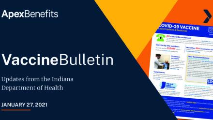 Vaccine News Bulletin | 01/27/21 | IN Dept of Health