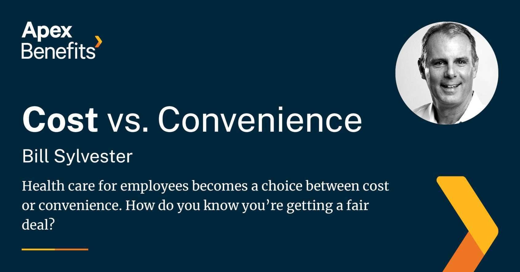 Cost vs Convenience