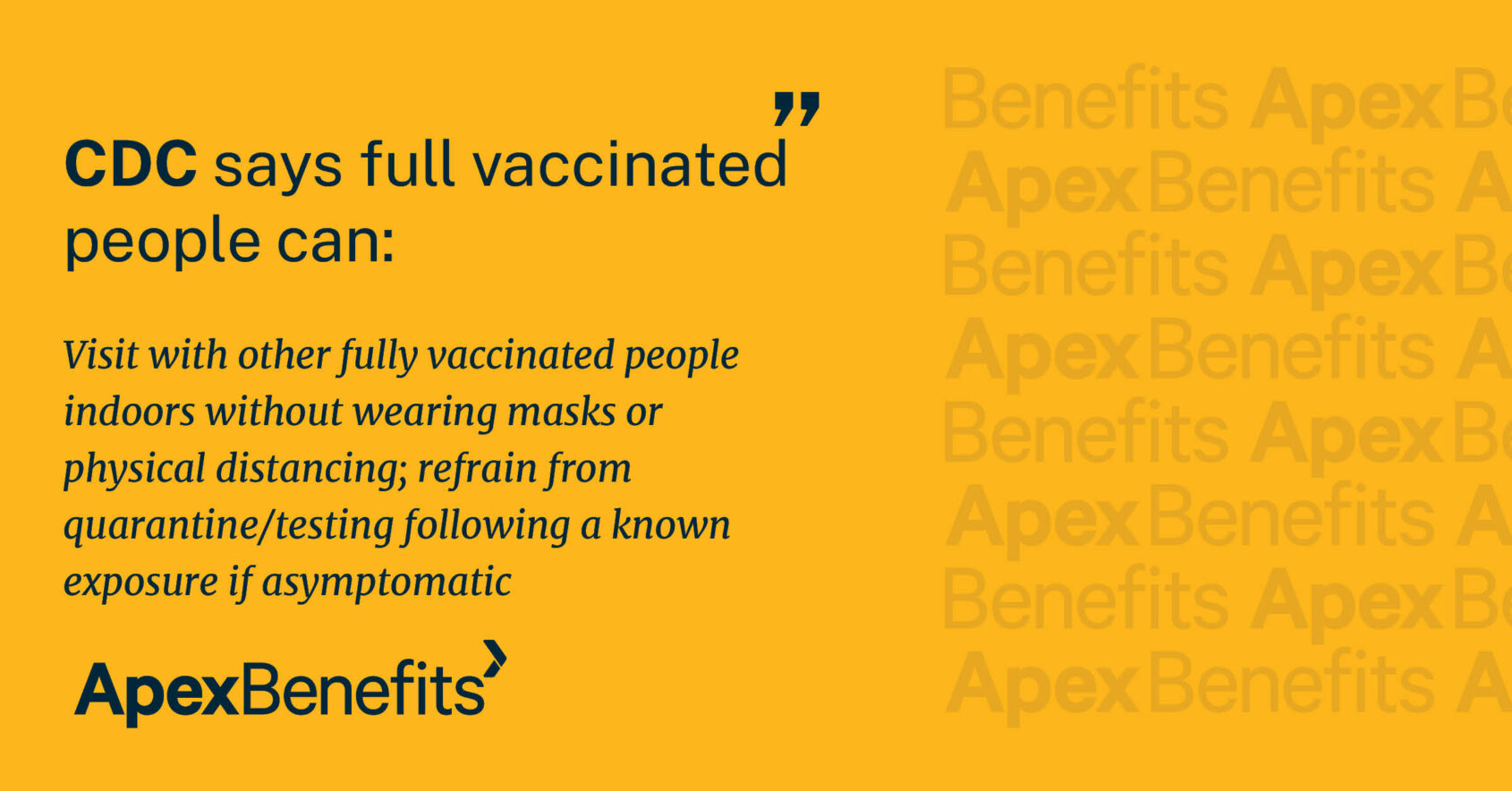 Fully vaccinated people