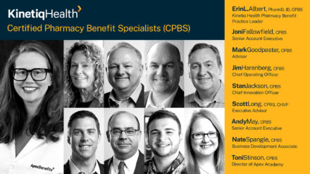 Apex Adds Two More to Certified Pharmacy Benefits Specialist Team